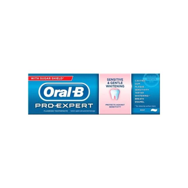 معجون اسنان اورال ب مبيض للأسنان الحساسة 75مل