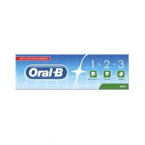 معجون اسنان اورال بي 1.2.3 نعناع 100ةم