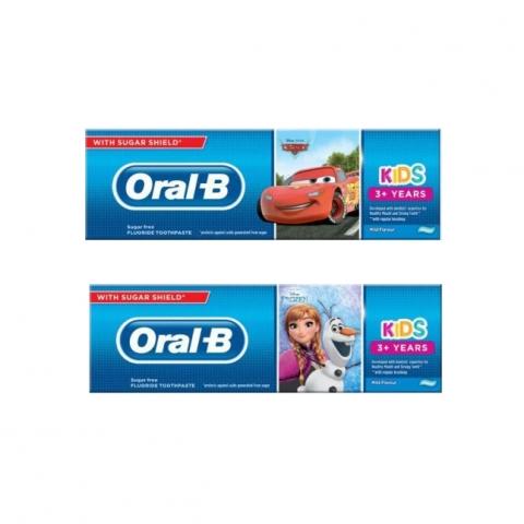معجون اسنان اورال بي اطفال 3+ سنين خالي من السكر 100مل